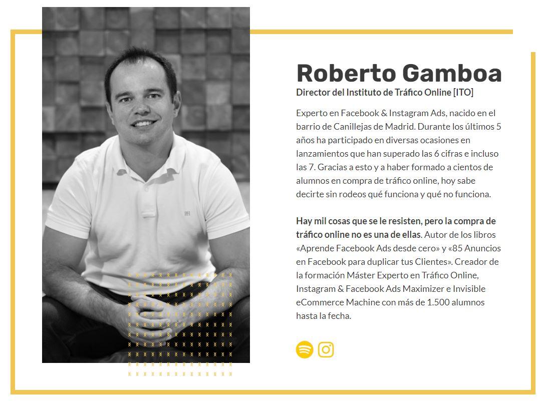 Captura de la web de Roberto Gamboa para el post sobre personalidad atractiva de ITO