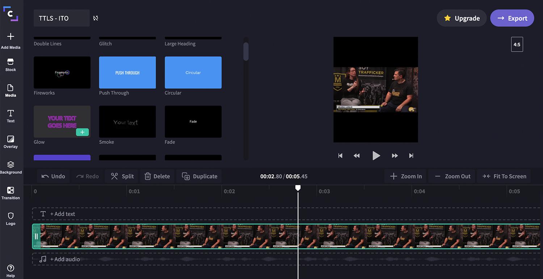 Interfaz de Clipchamp para el post sobre herramientas digitales del ITO