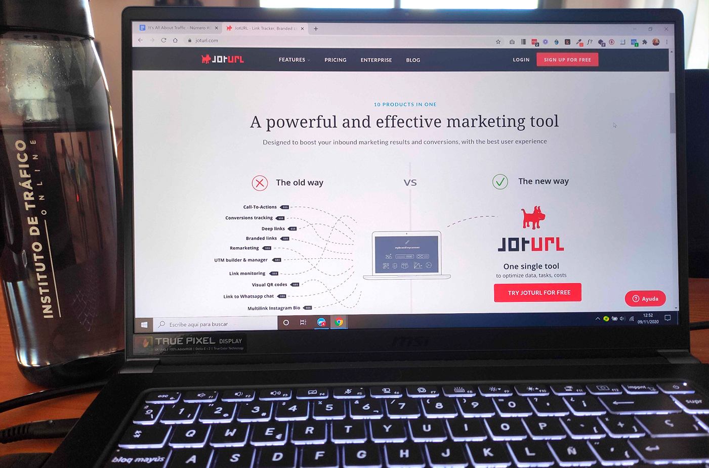 Web de Joturl para el post sobre herramientas digitales del ITO