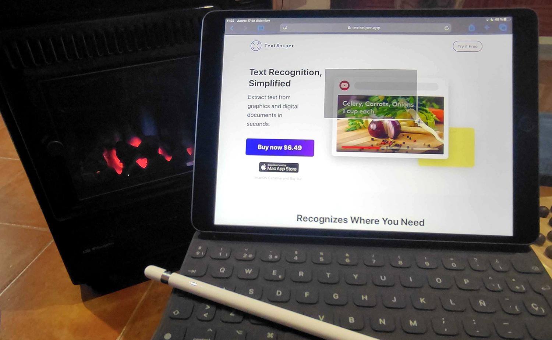 Web de TextSniper para el post sobre herramientas digitales del ITO